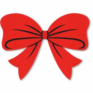 Bow Sticker Red