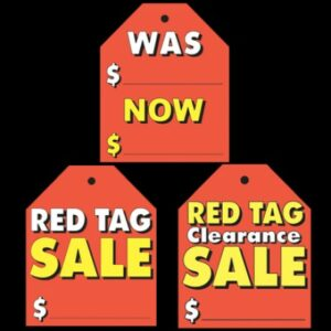Stick on Windscreen Tags (Red)