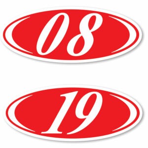 Two Digit Oval Year Model